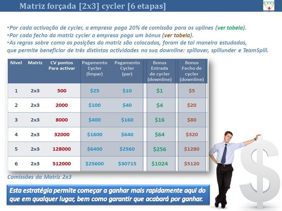 Matriz forçada [2x3] cycler [6 etapas]